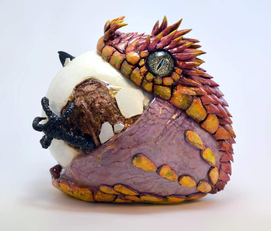 Sarah Lee Pink Viper sculpture