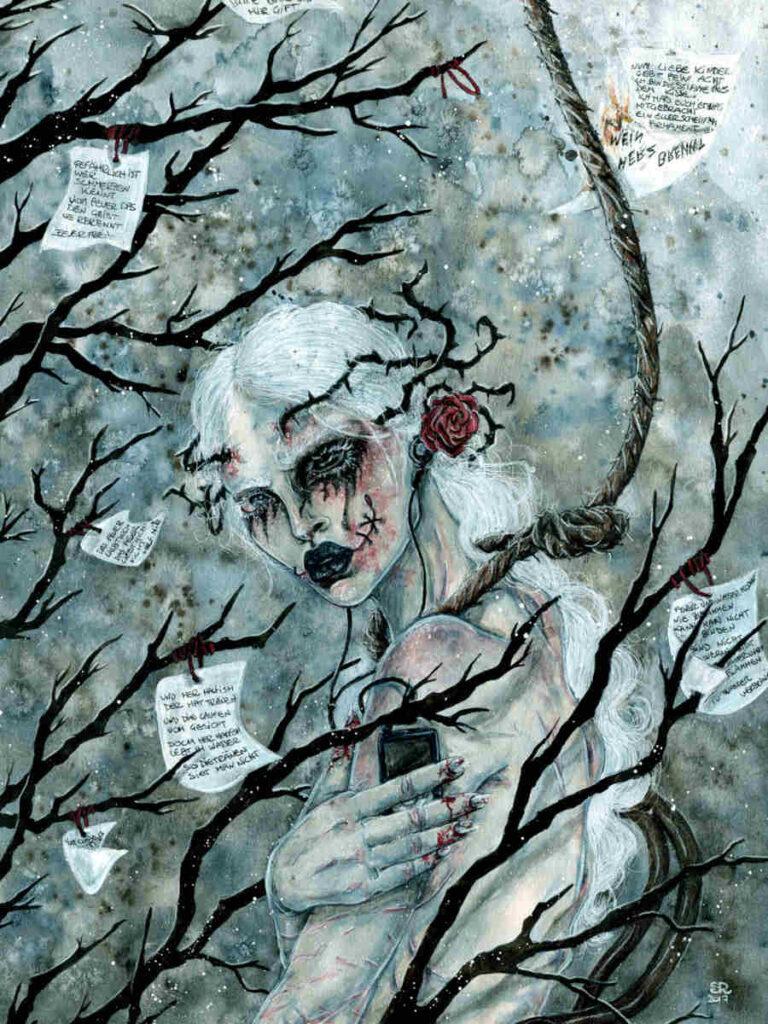 Illusorya sad forest painting