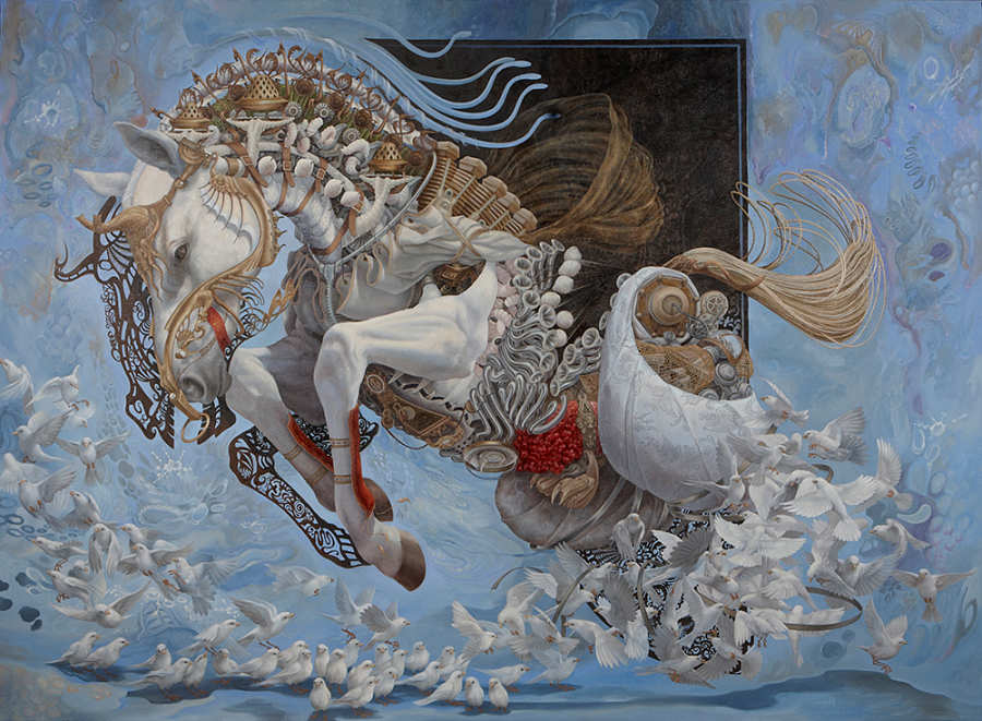 Heidi Teillefer Painting of Flying Horse