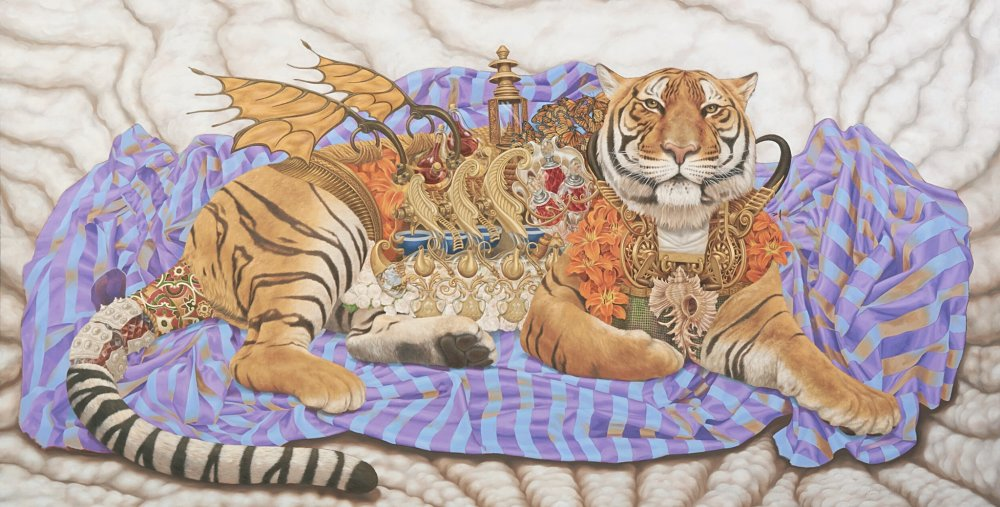 Heidi Taillefer painting of tiger