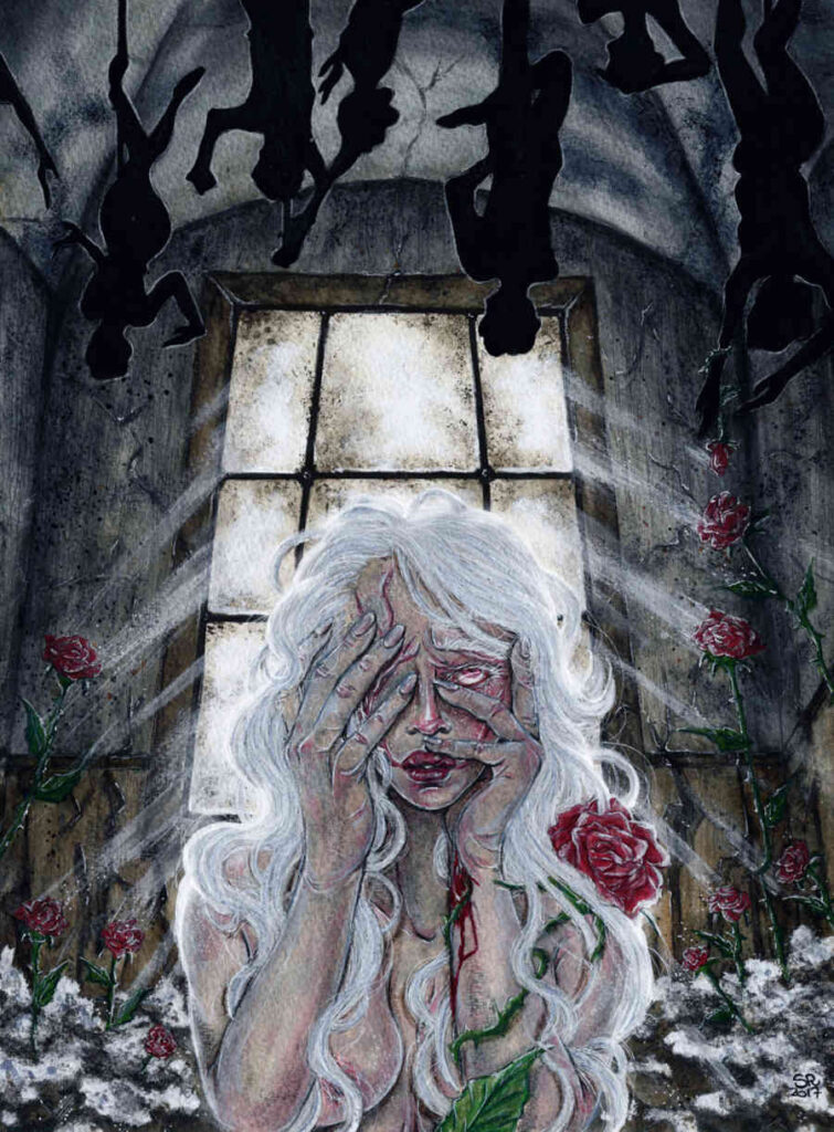 Illusorya gothic garden painting