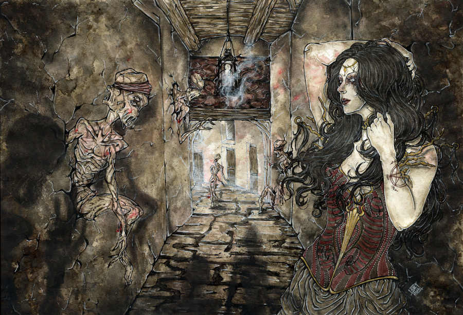 Illusorya gothic dark art painting