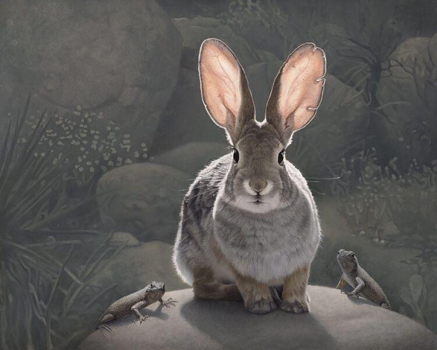Susan McDonnell guardians rabbit painting