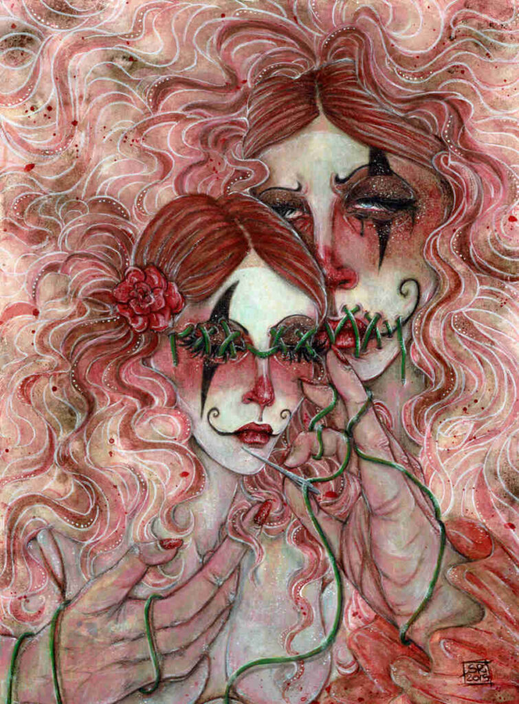 Illusorya surreal female clowns