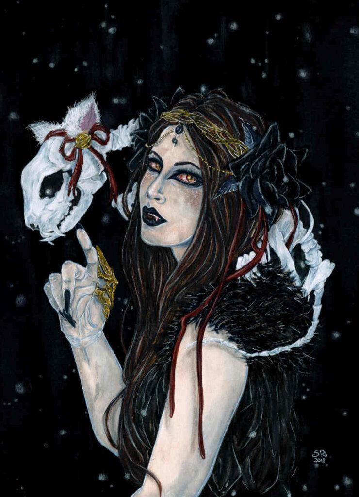 Illusorya gothic mask portrait