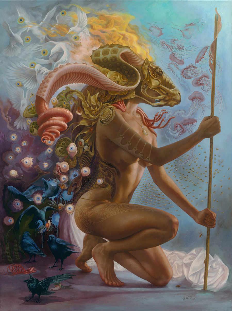 Heidi Taillefer surrealist painting of woman