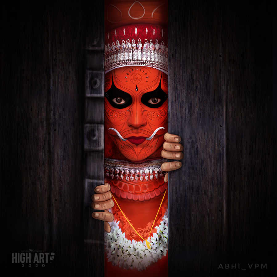 Abhinav S Theyyam digital portrait high art 2020