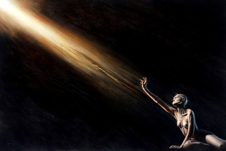 Adam McCarthy dark art painting