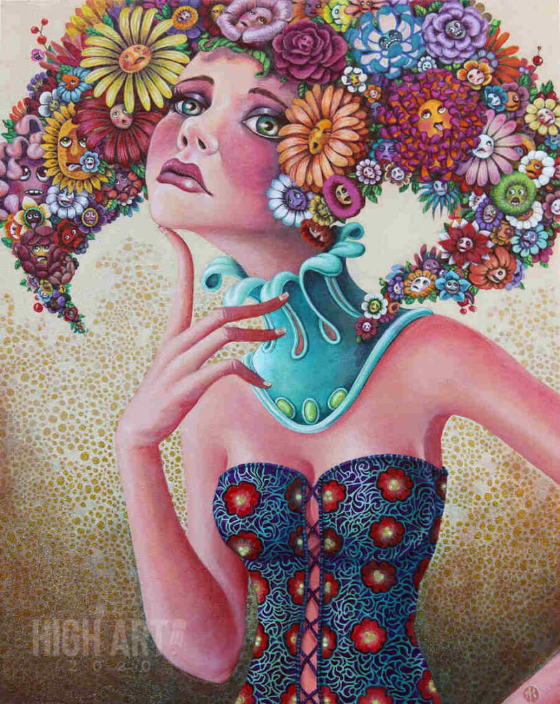 Amy Kollar Anderson flower hair woman