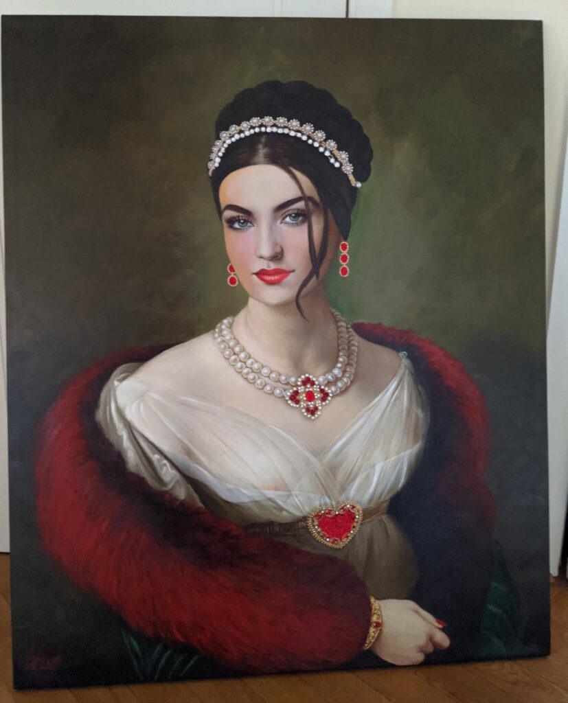 Antonio Del Prete red fur portrait