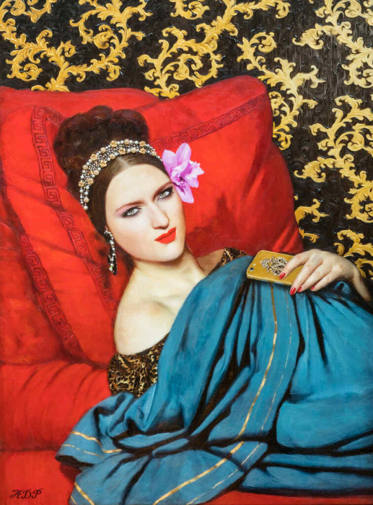 Antonio Del Prete lady with robes