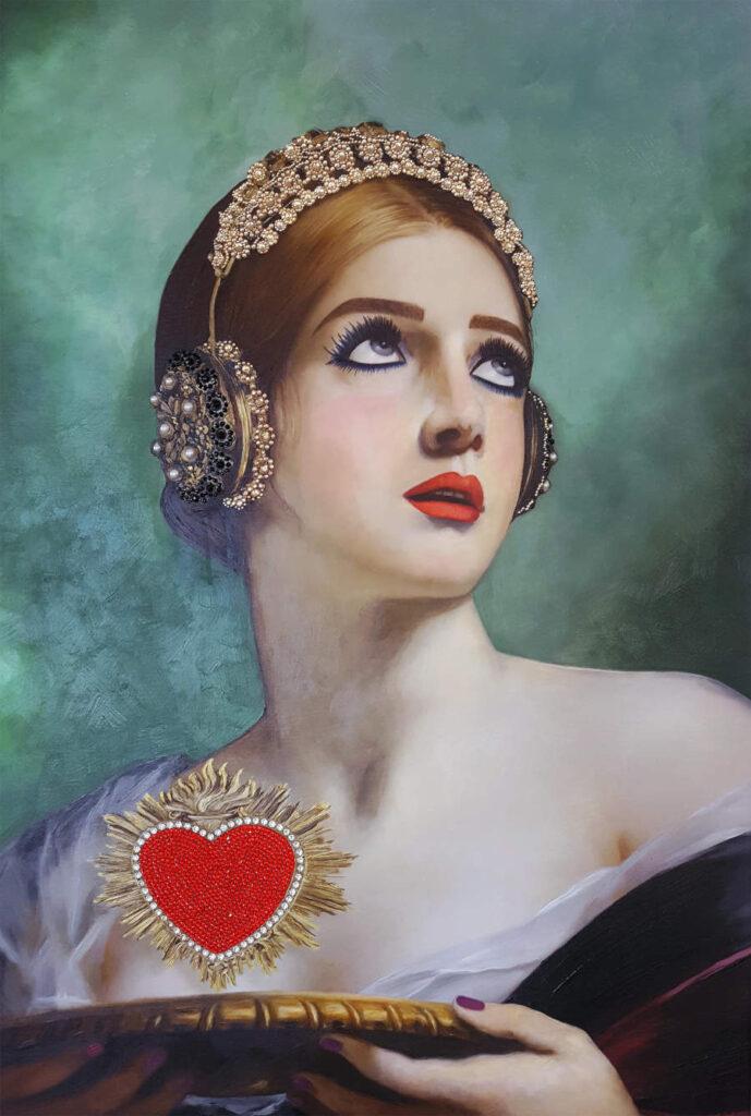 Antonio Del Prete love heart portrait