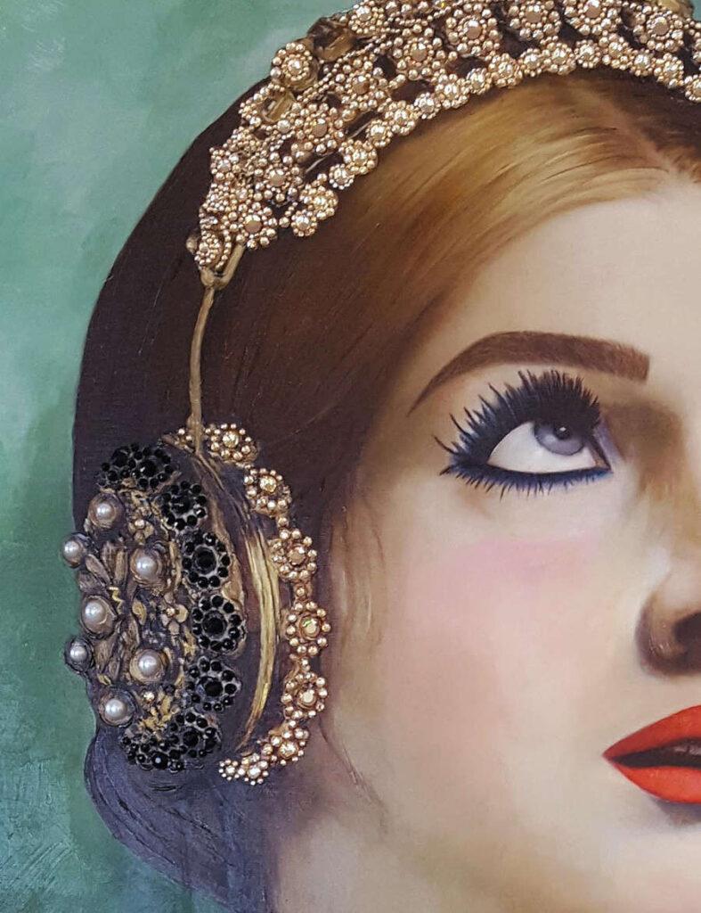 Antonio Del Prete close up gemstone headphones