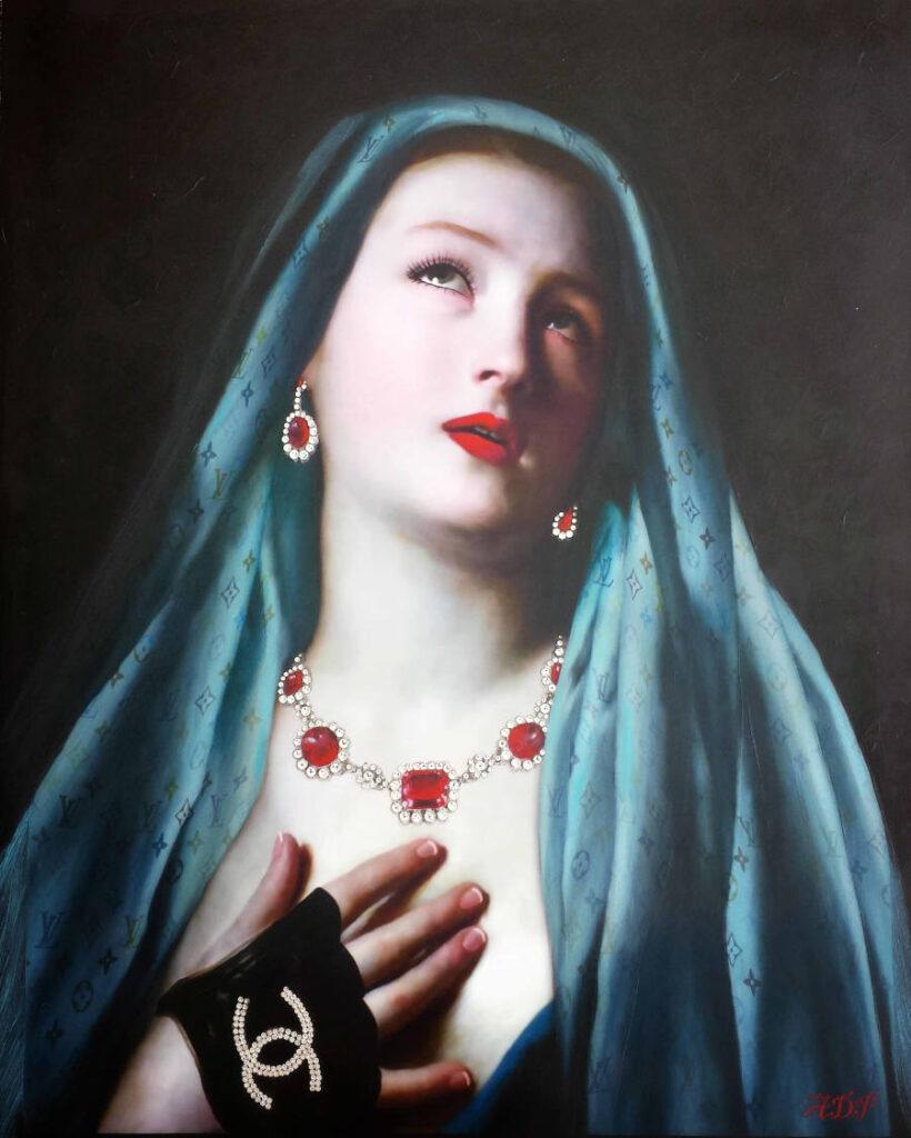 Antonio Del Prete Magdalene classical portrait