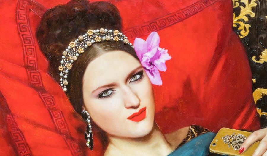 Antonio Del Prete close up portrait painting