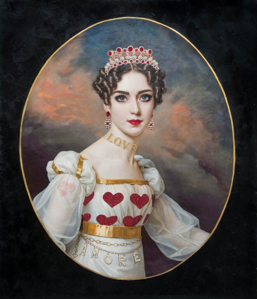 Antonio Del Prete love queen portrait