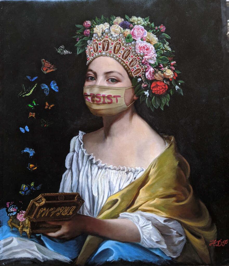 Antonio Del Prete mask classical portrait