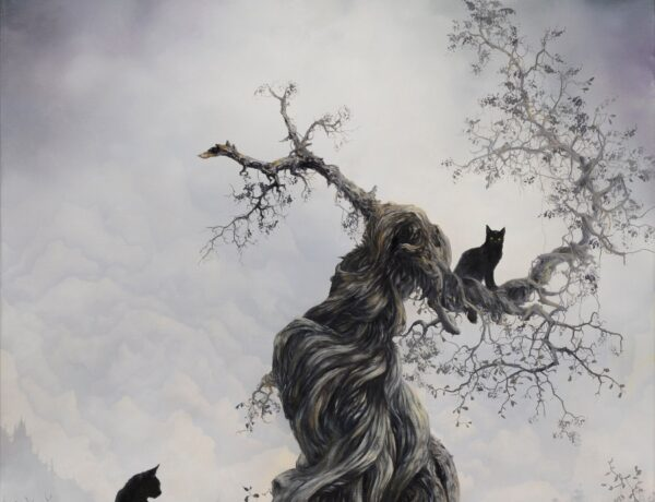 Brian Mashburn Dark Surrealistic Nature Wildlife Oil Painting