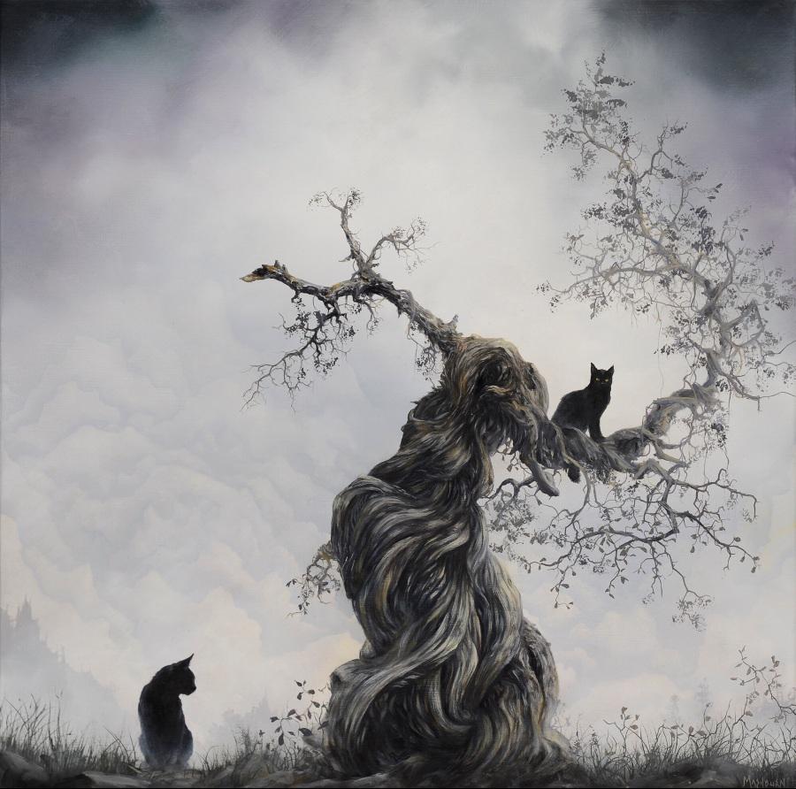 Brian Mashburn Dark Surrealistic Nature Wildlife Oil Painting