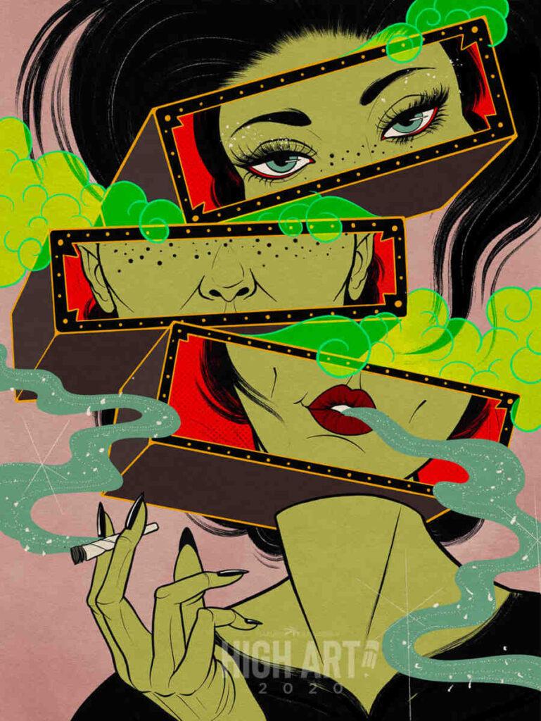 Cecilia Granata cannabis art