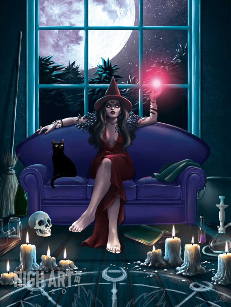 Iris Lopez Witch digital painting high art 2020