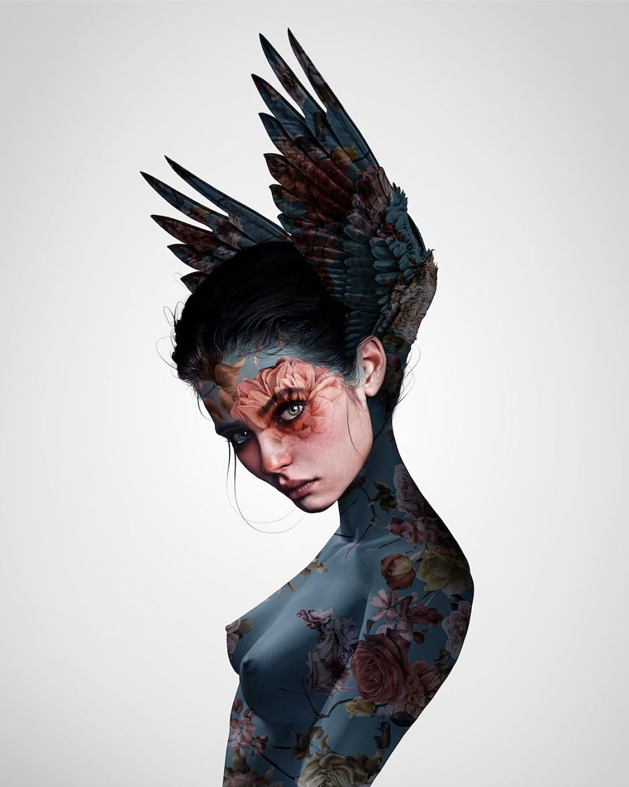 laura h rubin digital portrait hybrid creature