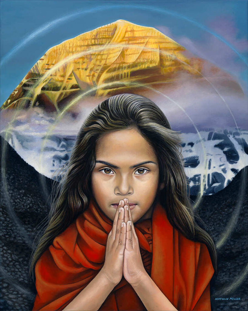 nathan miller fine art indian girl oneness series painting