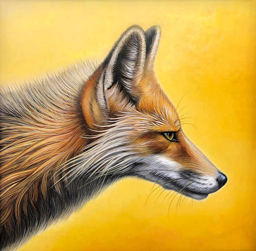 Nathan Miller fox painting