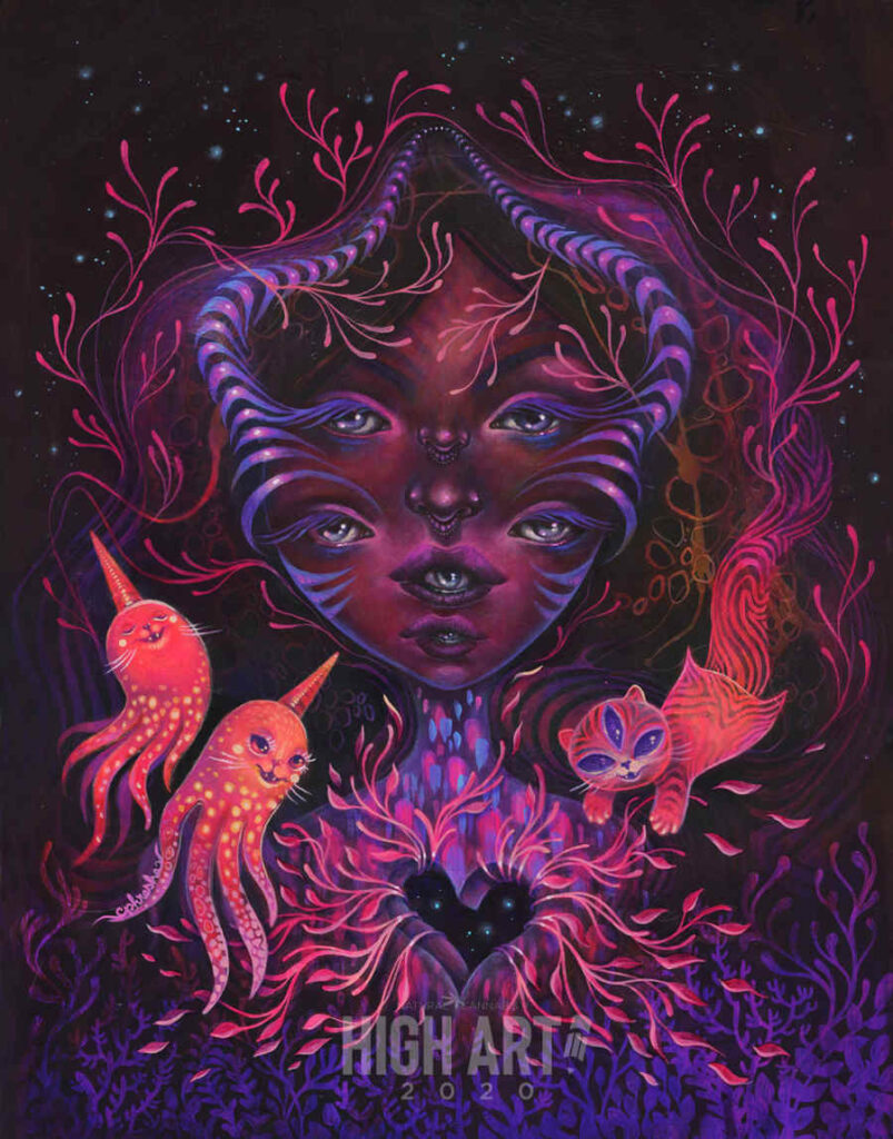 Phresha psychedelic purple creature