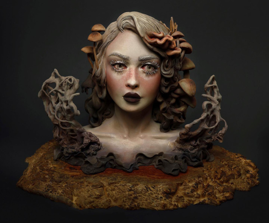 Samantha Schumaker nature fantasy bust