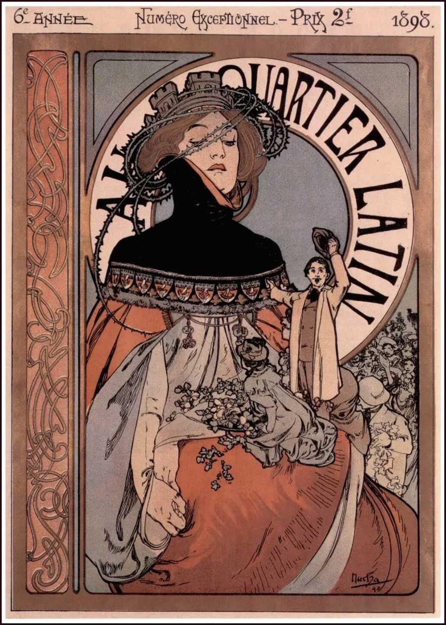 Alphonse Marie Mucha Art Nouveau Illustration