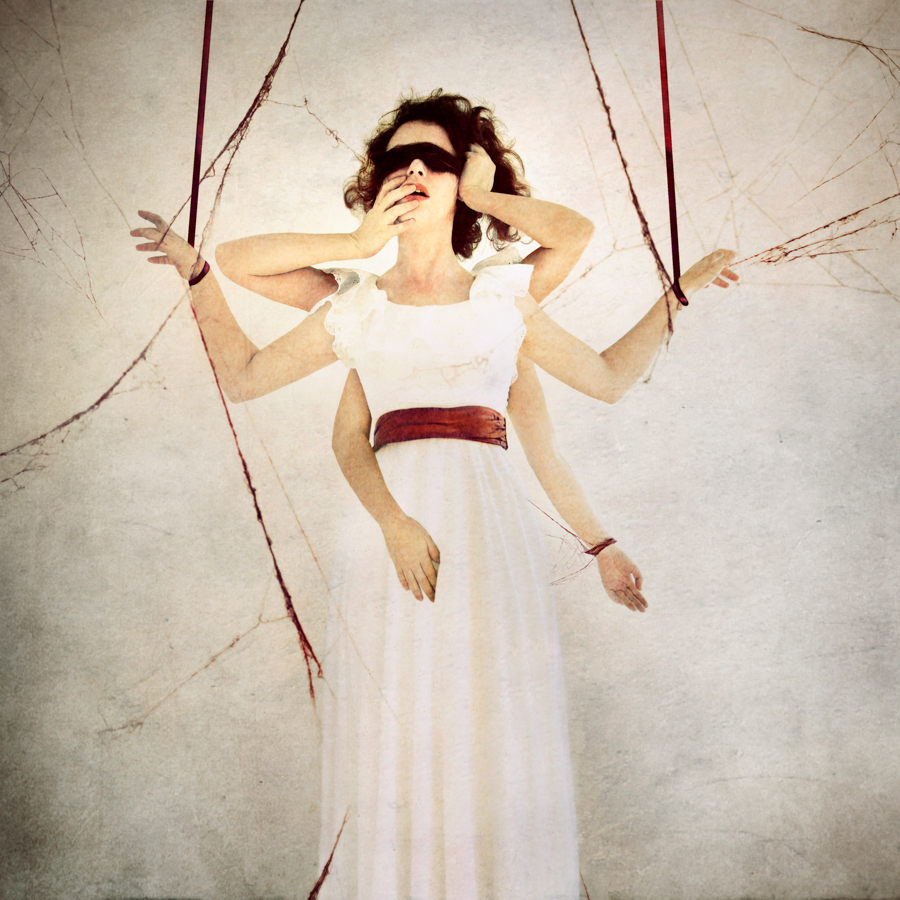 Jen Kiaba surreal photomanipulation white dress