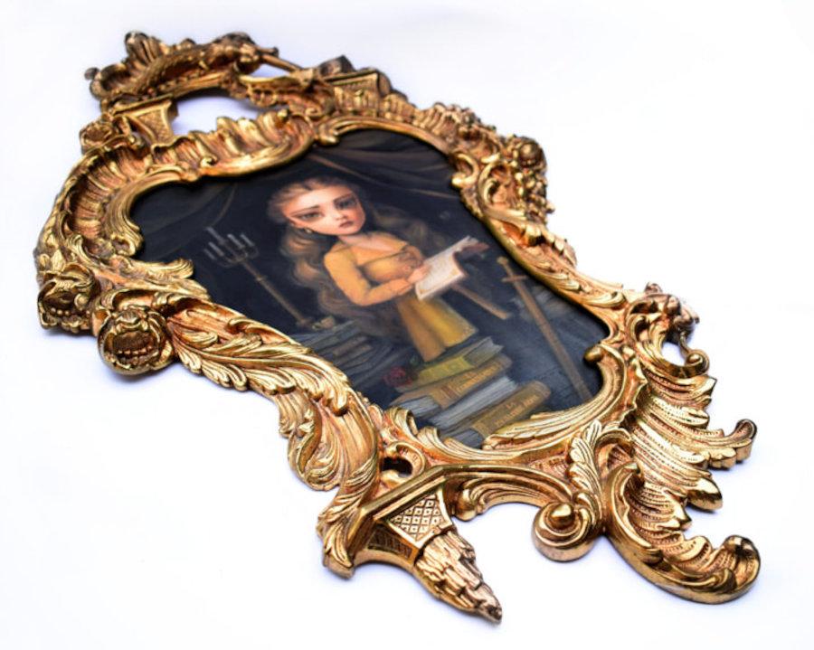 Karla Pereira gold frame Belle