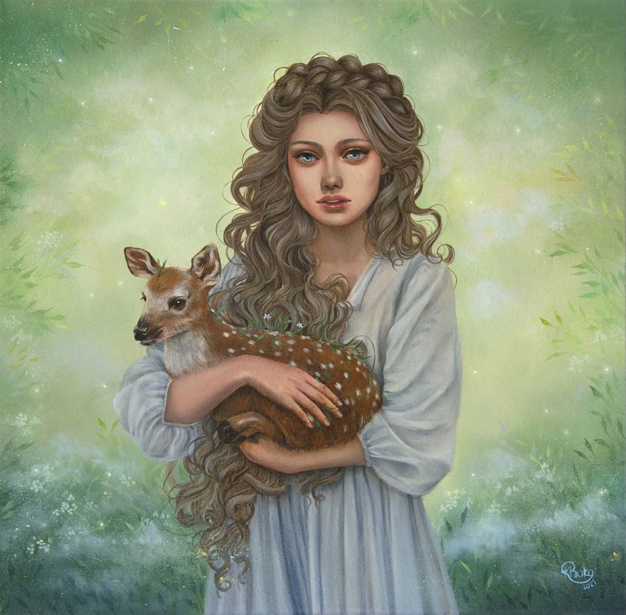 Kseniia Boko surreal painting Haven Gallery