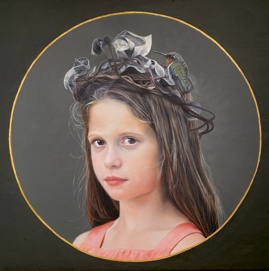 Lesley Thiel photorealism painting Haven Gallery