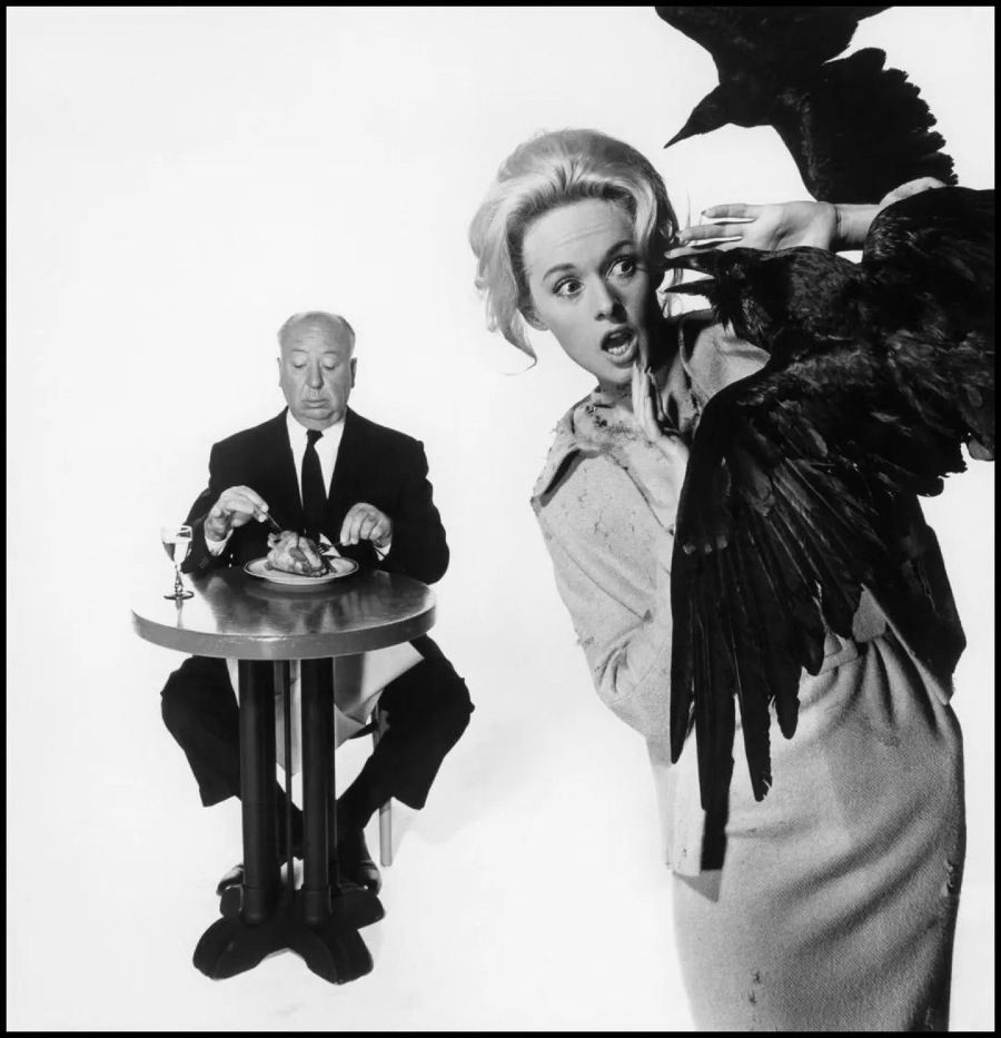 Albert Hitchcock Tippi Hendren Photograph