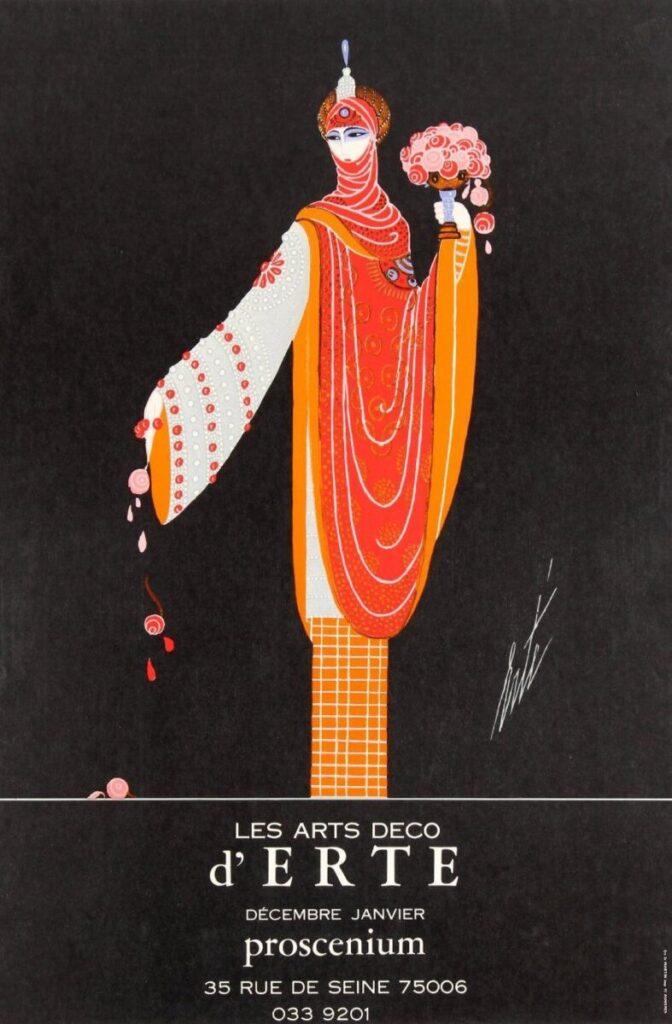 Romain de Tirtoff Erte Vintage Fashion Illustration