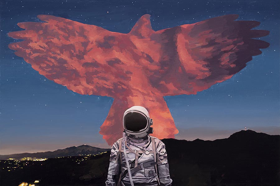 Scott Listfield astronaut painting