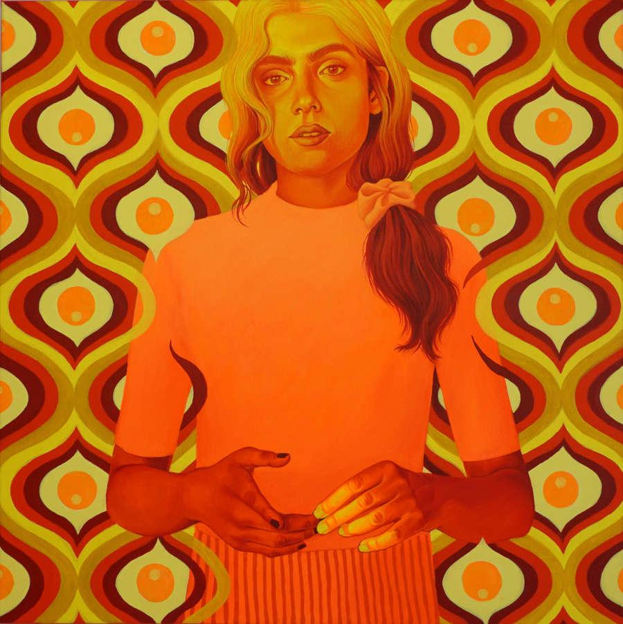 Cannibal Malabar orange portrait painting