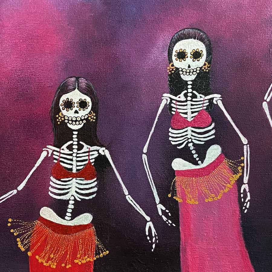Caroline Gaudreault Day of The Dead Painting