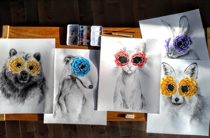Caroline Gaudreault Assorted Animal Portraits