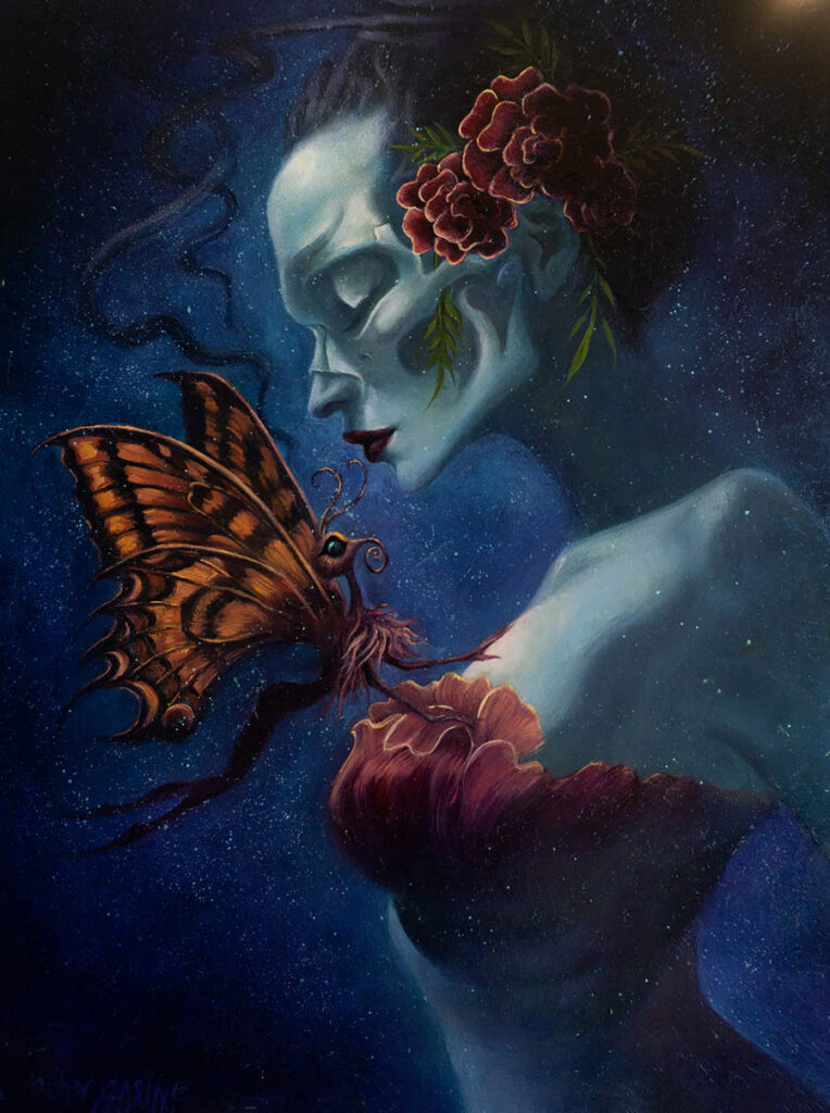 Cindy Casino gothic moth portrait