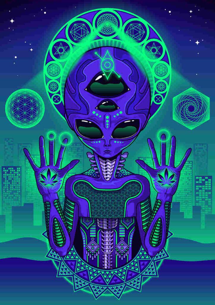 Dana Ulama psychedelic alien Natural Cannabis Company