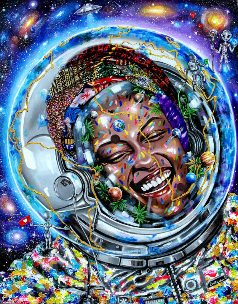 Eustache Usabimana happy space painting