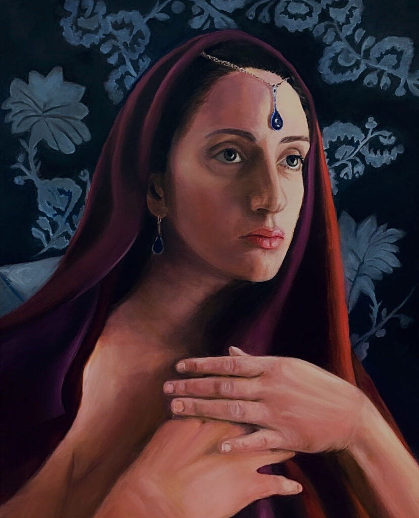 Hayam Elsayed sacrifice portrait painting