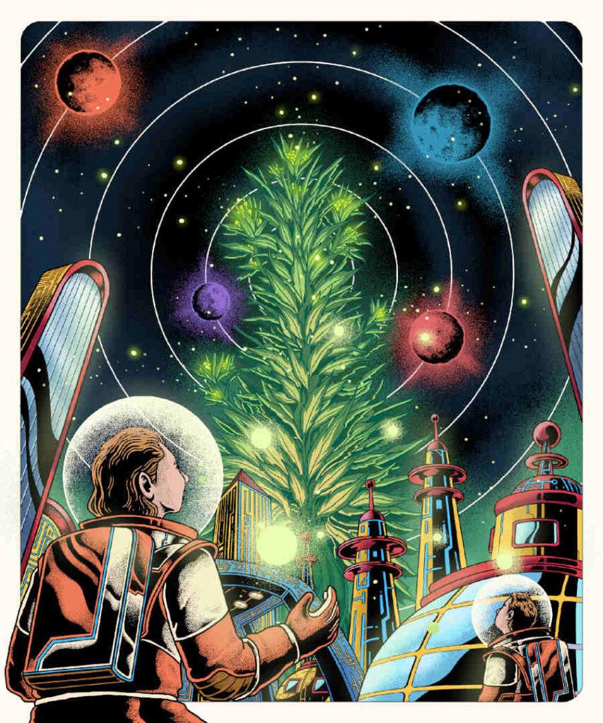Jerry K Gutierrez spaceman cannabis High Art 2021