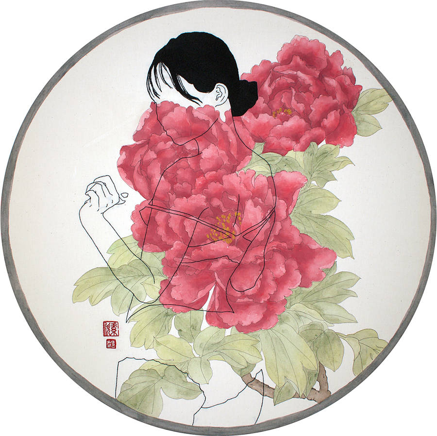 """Jessica So Ren Tang, """"Flowers of Riches and Honor"""" Modern Eden"""
