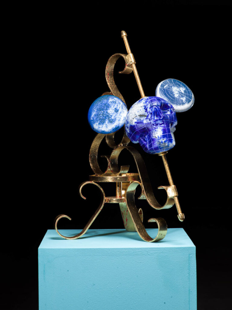 John Moran glass sculpture