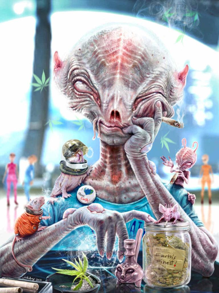 Jotham Guintos digital alien weed