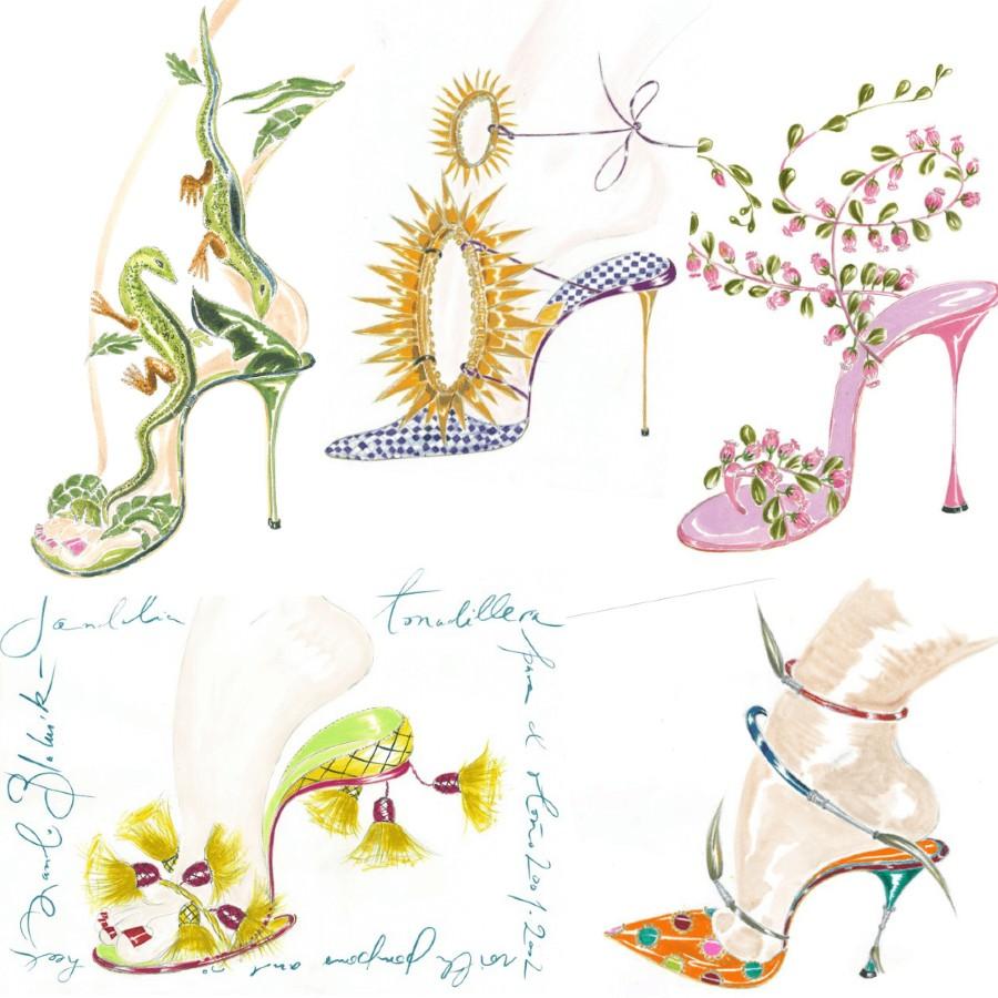 Manolo Blahnik Art Illustration High Heels
